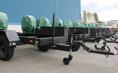 Towable, durable trailer generator